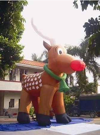 26u0027 Inflatable Reindeer Christmas Holiday Decoration 110V/220V