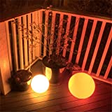 """Garden Winds Color Changing LED Glow Ball, 24"""" L x"""