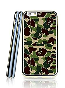 Bape Iphone 6 (4.7 Inch) Funda Case, Fashion Design Scratch Resistant 2 In 1 Protection With Tpu Back Cover Perfect Fit Iphone 6 / 6S (4.7 Inch) (Golden Border) - Riolve