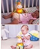 THATISHE Baby Sleep Aid Night Light & Shusher Sound Machine & Baby Gift, Portable Soother Stuffed Animal Owl with 2 Popular Songs & Kids Music to Comfort Plush Toy