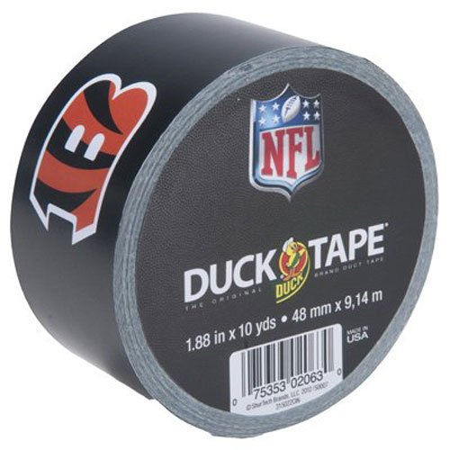 Duck Brand 281552 Cincinnati Bengals NFL Team Logo Duct Tape, 1.88-Inch by 10 Yards, Single -
