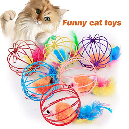 Amazon.com : Best Quality Funny cat Toy Hollow Out Ball Iron Mouse mice Kitten Playing Toys for Cats pet Supplies e2s : Pet Supplies