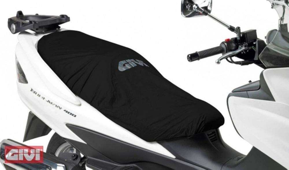 pour Yamaha X-Max 125 AB Housse DE Selle GIVI S210 Universal Waterproof Length.117CM Couverture DE SI/ÈGE pour Moto Scooter Bords /ÉLASTIQUES Noir