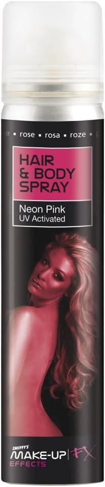Smiffys-37792 Spray para Pelo y Cuerpo, UV, envase 75ml ...