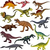 Boley 14-Pack 10 Inch Educational Dinosaur Toys - Realistic Educational Toy Dinosaur Figures For Kids, Children,...