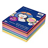 Perfect for beginner arts and crafts. This 10 color assortment is ideal for young children. Colors include: White, Sky Blue, Blue, Pink, Scarlet, Orange, Brown, Yellow, Green, and Black. Works great for cutting, pasting, doodling, and folding. Recycl...