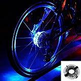 自転車 LED ホイールライト,Evary 自転車タイヤ用ライト デコレーションラ ンプ 簡単取り付け 防水 安全警告ライト 事故を防ぎます 内蔵LR44電池
