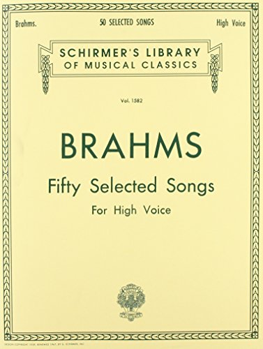 50 Selected Songs: High Voice (Schirmer's Library of...