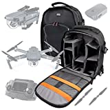 Black Water-Resistant Rucksack / Backpack with Customizable Interior & Raincover for the DJI Mavic PRO FLYD / Mavic / Tello - by DURAGADGET