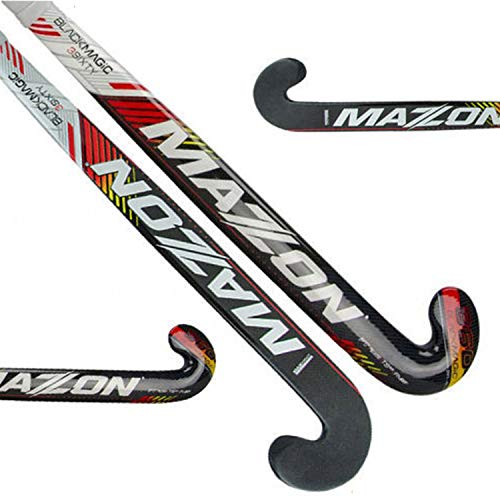 Mazon Black Magic 360 3Sixty Composite Outdoor Field Hockey Stick Free Grip & Carrying Bag (37.5