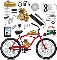 YUEWO 80cc 2-Stroke Upgrade Electric Bike Conversion Kit, DIY Petrol Gas Engine Bicycle Motor Kit Set for 24&q