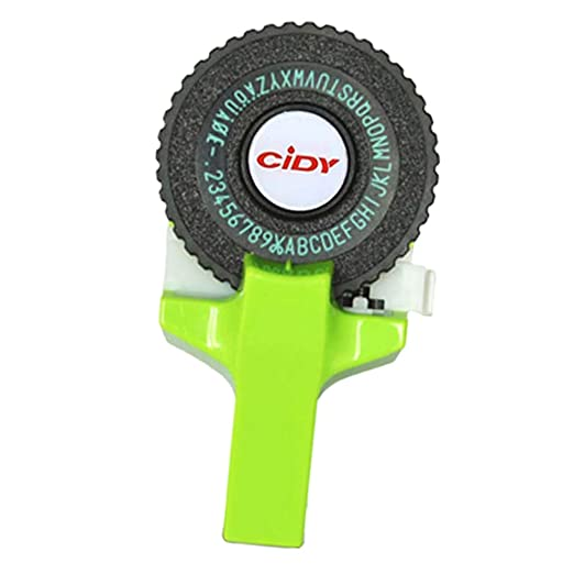 H HILABEE 9mm 3D DIY Manual Label Maker Para Estampar Plástico ...