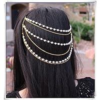 Hair accessories Multilayer pearl tassel hair band head wear