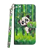 LG Zone 4 Case, LG Aristo 2/LG Tribute Dynasty/LG K8 2018/LG Fortune 2/LG Risio 3 Case, Love Sound [Wrist Strap] [Stand Feature] 3D Painted Design PU Leather Wallet Flip Case Cover, Panda Bamboo Review