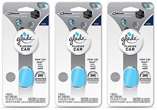 Glade Plugins Car Refill New Car Feels 3-Pack