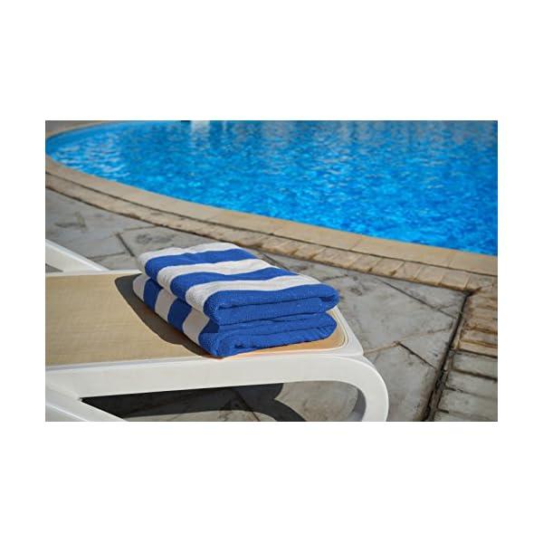 Utopia Towels - 4 Telo mare, Asciugamani da spiaggia, motivo a righe - 100% cotone (76 x 152 cm, Varieta) 4 spesavip
