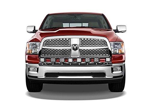 N-FAB D0930LD Gloss Black Light Bar; Multi-Mount System (MMS) Dodge Ram 1500  09-18 (N Fab Bumper Dodge Ram)