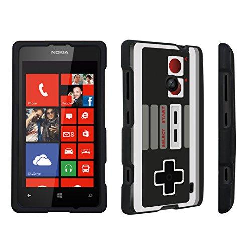 DuroCase ® Nokia Lumia 521 Hard Case Black – (Game Controller) For Sale
