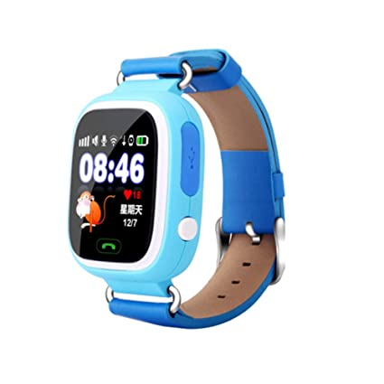 Global Positioning Touch Color Screen GPS Childrens Smart Watch WiFi Children Positioning Watch (Blue)
