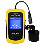Lucky Portable Fish Finder Sonar, TN/Anti-UV LCD Display LED Backlight for Night Fishing, Wired w/Alarm, 100M (328ft) Depth Detection, Turbid Water, Reservoir, River, Lake, Boat Kayak Ice Fishing
