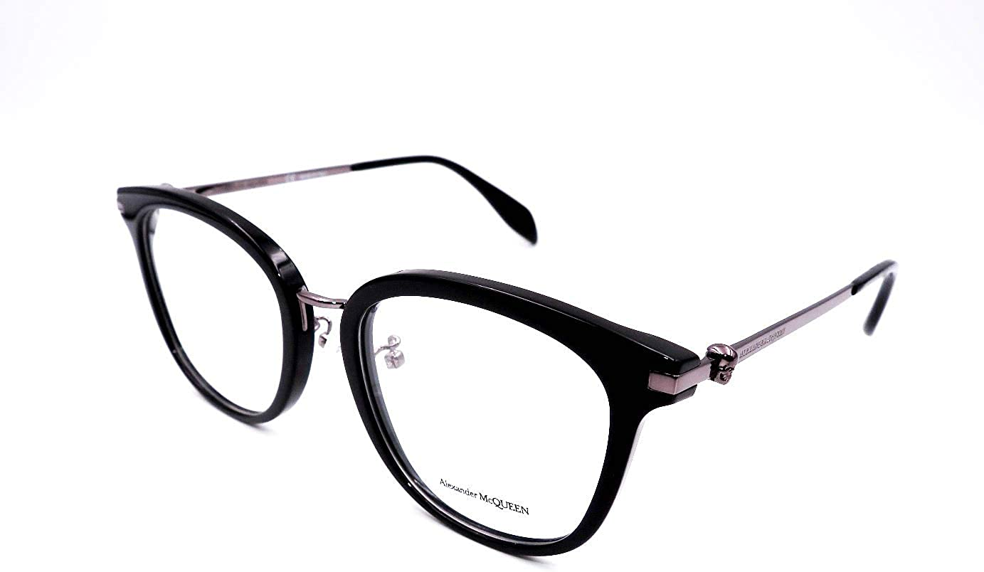 004 BLUE//HAVANA Eyeglasses Alexander McQueen AM 0147 OA