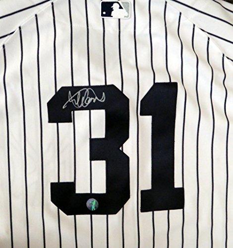 New York Yankees Ichiro Suzuki Autographed White Pinstripes Majestic Authentic Jersey Size 44 - Ichiro Suzuki COA