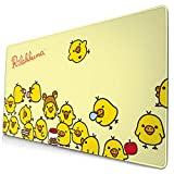 AntonioWilliams Rilakkuma Large Mouse Pad Computer Game Pad 15.8 X 29.5 Inch Non-Slip Rubber Stitching Lock Mouse Pad Desktop Mouse Pad for Office/Home, Laptop, Long Mouse Pad