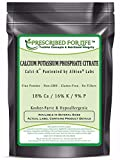 Calcium Potassium Phosphate Citrate Powder - 18% Ca / 16% K / 9% P - Calci-K (R) by Albion, 25 lb