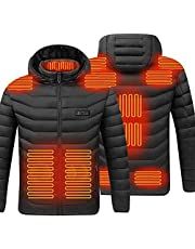 Elektrisch verwarmd jasje, USB-oplaadjack met 3 temperatuurinstellingen, winddicht, waterdicht, winterverwarmingslaag voor motorfiets, outdoor, kamperen, wandelen, skiën