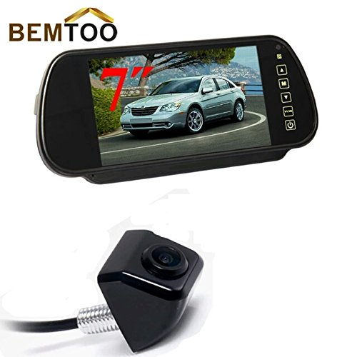 BEMTOO Rear View Camera stainless metal Vehicle Backup Camera with 7