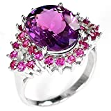 Fashion Womens 925 Silver Red Ruby Ring Wedding Engagement Gift Jewelry Sz 6-10 (10)