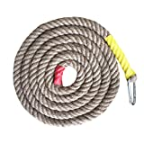 Aoneky Gym Climbing Ropes (Brown, 1.18'' x 15 ft)