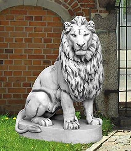 León Visión Derecho (s103038) Animales figuras piedra figuras Figura de piedra fundido jardín 135 cm: Amazon.es: Jardín