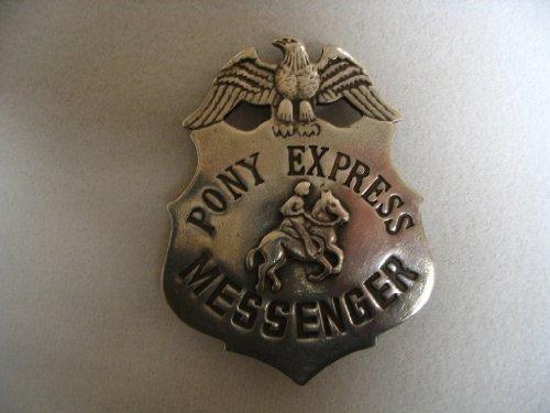 Pony Express Messenger Obsolete Old West Police Badge Star