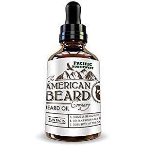 Cedar Scent Pacific Northwest Beard Oil for Men, Leave in Conditioner and Softener, Organic and Helps with Beard Growth and Thickening, Dandruff and Itch Reducer, Made In The USA, Comes with Dropper