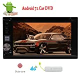 Android 7.1 Car Radio Stereo System 6.2 inch Nougat Double 2 din in Dash Car Video Player Car dvd cd Navigator with Handsfree Bluetooth WiFi GPS Navigation Free Map support Wifi 4G Net