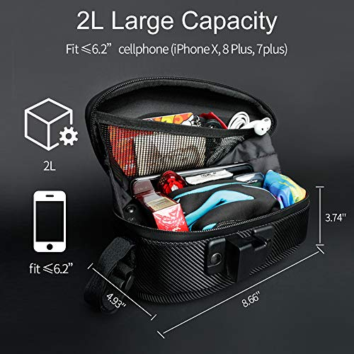 Cool Change Bike Saddle Bag Fully Waterproof | 2L Large Capacity | Tough EVA 3D Shell | Buckle Install Cycling Bag by Cool Change (Image #3)