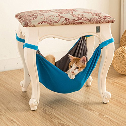 BUYITNOW Indoor Cat Hanging Hammock Bed Under Chairs Table Soft