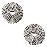 Pinehurst Crafts Stainless Steel Ball Chain Necklace, 30-Inch, 2-Pack