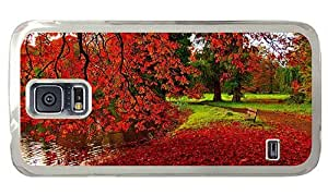 Hipster Samsung Galaxy S5 Case DIY Park Autumn PC Transparent for Samsung S5