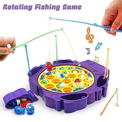 TONZE Angelspiel Musikspielzeug Pädagogische Spielzeug Elektrische Fischform Geschenk für Kinder ab 3 4 Jahren Mädchen (lila)