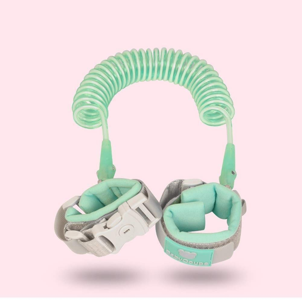 Baby Traction Rope - Kids Safety Leash Anti Lost Wristbands Harness Strap Traction Rope (Color : Green, Size : 2m)