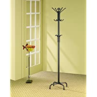 Coaster Contemporary Satin Black Accent Coat Rack