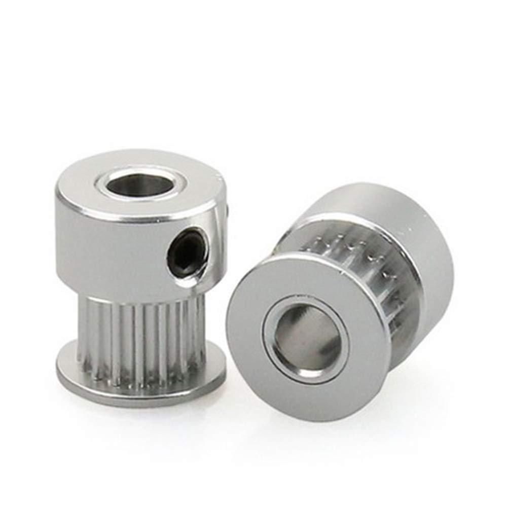 UKCOCO 12pcs haute précision en aluminium GT2 20Teeth 5mm alésage poulie courroie de distribution pour imprimante RepRap 3D