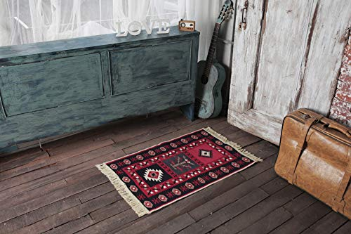 SETA RUGS, Karun Collection Area Rugs, Small Rug, Decorative Kilim, Double Sided Cotton Washable Rug for entryway, Hallway, Kitchen, 2 x 3 ft