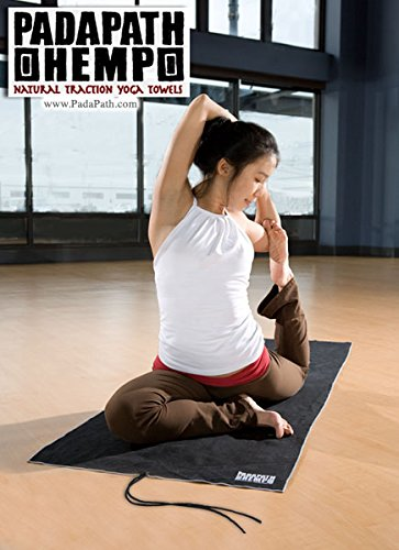 Amazon.com: padapath Negro cáñamo Yoga toalla: Sports & Outdoors