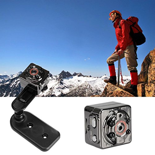 SQ8 Mini Sports Camera,Iusun 1080P Full HD DV Sports Recorder Car DVR Dash Cam Camcorder 12MP Action Camera Camcorder (Black)