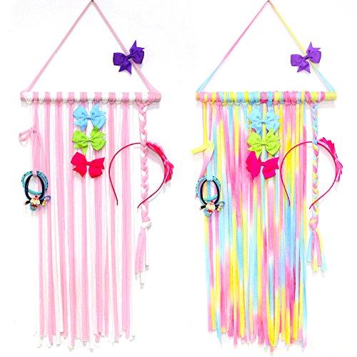 Hair Bow Holder Organizer, Nancyus005 Hair Clips Headbands Holders Hanger Organizer Storage for Girls, 22 Inch Long, 2 Pcs by Nancyus005