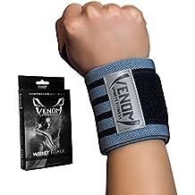 Venom Wrist Brace Compression Wrap w/Thumb Loop - Elastic Support for Tendonitis Pain, Sprain, Strain, Arthritis, Basketball, Baseball, Gym, Crossfit, Lifting, Weightlifting, Sports, Men, Women