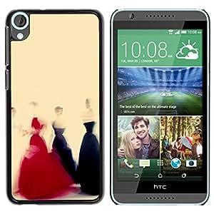 """For HTC Desire 820 Case , Vestido Negro Rojo Amarillo Moda Arte"""" - Diseño Patrón Teléfono Caso Cubierta Case Bumper Duro Protección Case Cover Funda"""